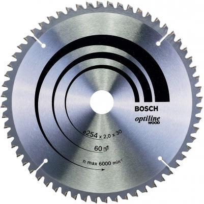 BOSCH 2608640436 Пильный диск STD WO 254x30-60T пильный диск eco wood 254x30 мм 40t bosch 2608644383
