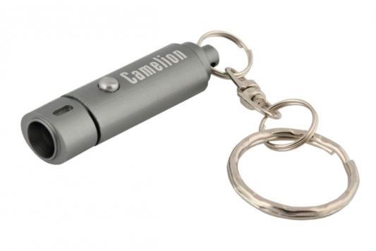 Camelion LED08-1R (фонарь-брелок, металлик, овал, 1 LED, 3xG3 в компл., алюм, блистер) фонарик брелок camelion c led08 1r