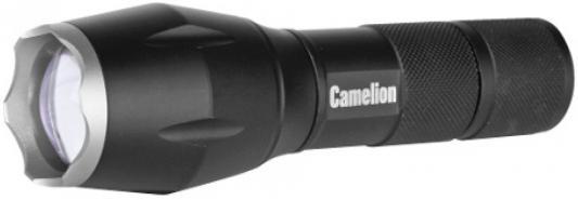 Camelion LED5136 (фонарь, черный, LED XML-T6, ZOOM, 5 реж 3XLR03 в компл., алюм.,откр. блистер) camelion led5137 фонарь титан led xml t6 zoom 5 реж 3xlr03 в компл алюм откр блистер