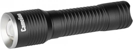 Camelion LED5138 (фонарь, черный, LED XPE, ZOOM, 3 реж 3XLR03 в компл., алюм., откр. блистер) camelion led5137 фонарь титан led xml t6 zoom 5 реж 3xlr03 в компл алюм откр блистер