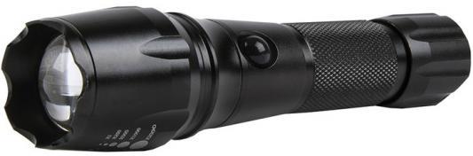Smartbuy SBF-20-K Аккумуляторный Светодиодный фонарь CREE XM-L T6 10W с системой фокусировки луча, черный 9 xm l t6 outdoor hunting 20000lm tactical led torch light 5 mode super powerful led flashlight 18650 26650 battery charger