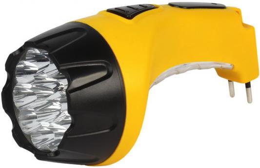 Smartbuy SBF-89-Y Аккумуляторный Светодиодный фонарь 15+10 LED с прямой зарядкой желтый фонарь smartbuy sbf 87 y