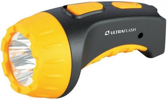 Ultraflash LED3804 (фонарь аккум 220В, черный/желтый, 4 LED, SLA, пластик, коробка) цена