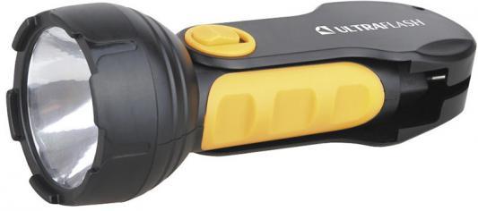 Ultraflash LED3817 (фонарь аккум 220В, черный/желтый, 1LED 1Вт, SLA, пласт, склад. вил коробка) цена