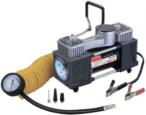 Автомобильный компрессор Starwind CC-320 65л/мин шланг 5м автомобильный компрессор starwind cc 100 15л мин шланг 0 45м