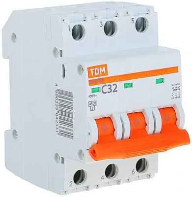 Автомат TDM SQ0206-0112 ВА47-29 3р 32А 4.5ка х-ка С автоматический выключатель tdm ва47 100 3р 25а 10ка с sq0207 0070