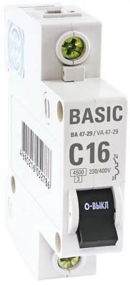 Выключатель EKF mcb4729-1-25C авт. 1п c 25а ва 47-29 4.5ка basic
