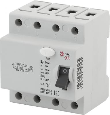 УЗО ЭРА Pro NO-902-34 вд1-63 3p+n 25а 30ма (45/945) free shipping 5pcs lot fqa24n60 n channel to 3p 600v 24a new original