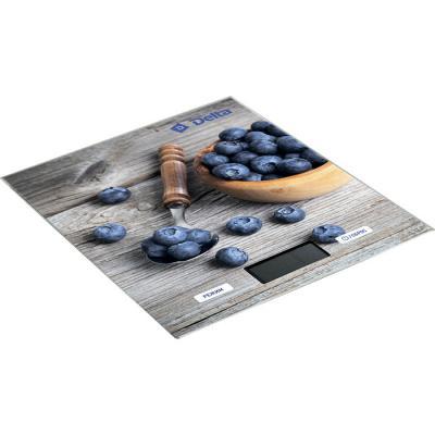 Весы кухонные DELTA КСЕ-36 Сладкая черника серый синий рисунок цена