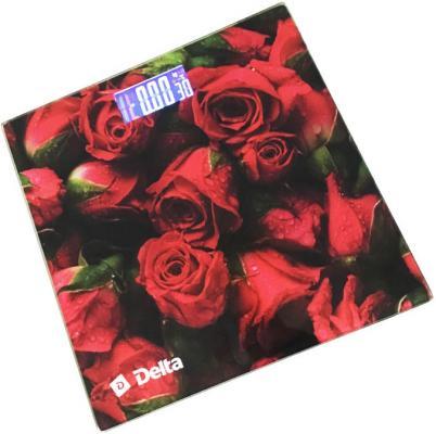 Весы напольные DELTA D-9223 Розарий рисунок delta d 9226 ракушки весы напольные