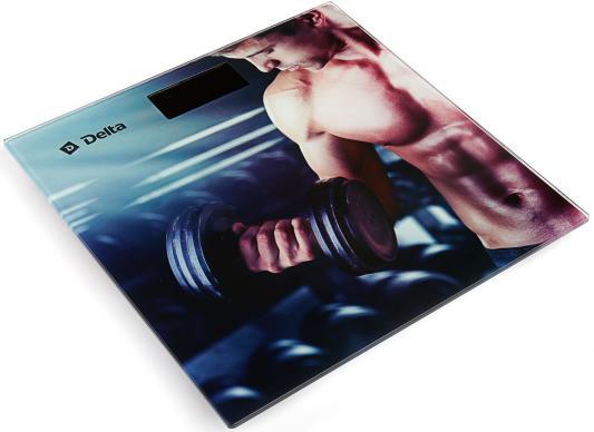 Весы напольные DELTA D-9230 Спорт рисунок delta d 9226 ракушки весы напольные