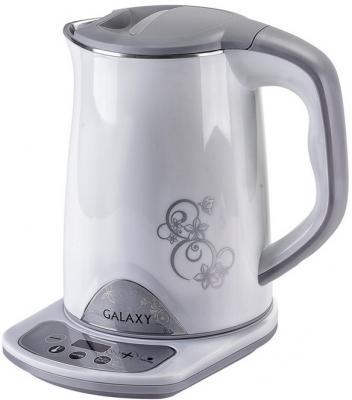Чайник электрический GALAXY GL 0340 1800 Вт белый 1.5 л металл/пластик чайник электрический galaxy 1 7 л 2200w с подсветкой