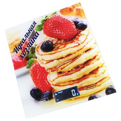 Весы кухонные Василиса ВА-002 Идеальная хозяйка белый рисунок разноцветный