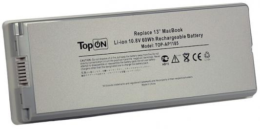 Аккумулятор для ноутбука Apple MacBook Pro 13 5600мАч 10.8V TopON TOP-AP1185 60Wh, усиленный аккумулятор для ноутбука apple macbook pro 13 3 series 10 95v 5500mah 60wh усиленный a1322