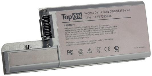 Аккумулятор для ноутбука Dell Dell Latitude D531, D820, D830, Precision M65, M4300 Series 7200мАч 11.1V TopON TOP-D820H 80Wh, усиленный
