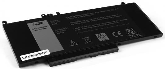 Аккумулятор для ноутбука Dell Latitude E5450, E5550, 14 5000, 15 5000 Series 5200мАч 7.4V TopON TOP-E5450 38Wh аккумулятор для ноутбука dell inspiron 11 3000 13 7000 series 11 1v 3400mah 38wh gk5ky 4k8yh