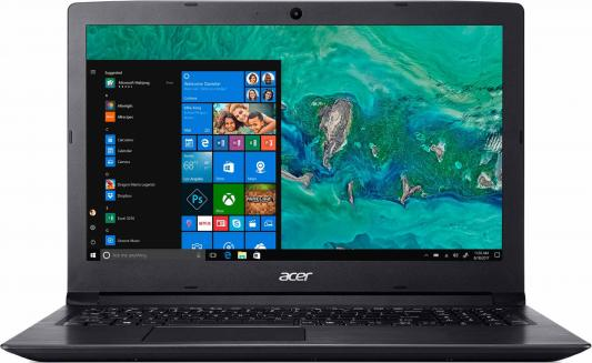 "Ноутбук Acer Aspire A315-53-32PM Core i3 8130U/4Gb/1Tb/iOpt16Gb/Intel UHD Graphics 620/15.6""/HD (1366x768)/Windows 10/black/WiFi/BT/Cam/4180mAh цена"
