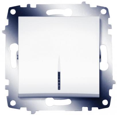 Выключатель ABB COSMO 619-010200-201 белый 1 кл с подсв.
