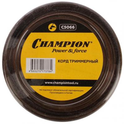 CHAMPION Корд трим. Nylplus Square 2.4мм* 74м (квадрат) C5066 Корды, шт корд трим champion square twist duo 3 0мм 168м витой квадрат