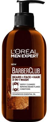 Гель для укладки волос LOreal Paris Барбер Клаб - 3в1 200 мл A9398801 для загара loreal