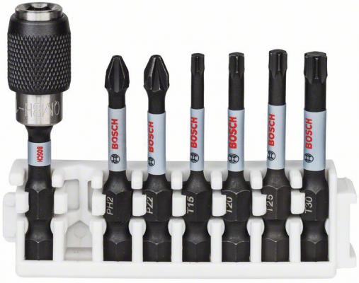 Набор ударных бит Bosch Impact Control PH2, PZ2, T15, T20, T25, T30 +держатель 2608522327 , шт набор крестовых бит irwin с титановым покрытием ph2 х 25 мм 10 шт
