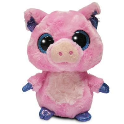 Купить Мягкая игрушка поросенок AURORA Поросёнок искусственный мех наполнитель 12 см, разноцветный, искусственный мех, наполнитель, Животные