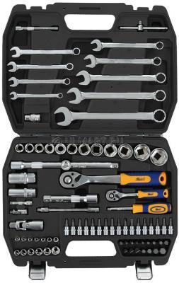 Набор инструментов KRAFT КТ 700681 1/2DR и 1/4DR 82пр. с 12гран.головками