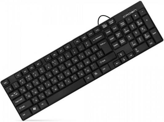 цены CROWN CMK-479 [CM000002173] Клавиатура {102 клавиши, кабель 1,8м, USB, отделка под карбон}