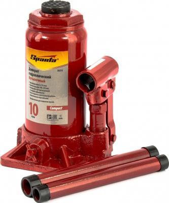 Домкрат SPARTA 50335 гидравлический бутылочный 10 т h подъема 190-370мм compact домкрат гидравлический бутылочный sparta телескопический 10т 50345