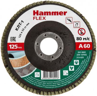 Круг лепестковый торцевой 125 Х 22 Р 60 тип 1 КЛТ P60 Hammer Flex SE 213-025 125 х 22 р 60 тип 1 клт hammer flex 213 008 круг лепестковый торцевой