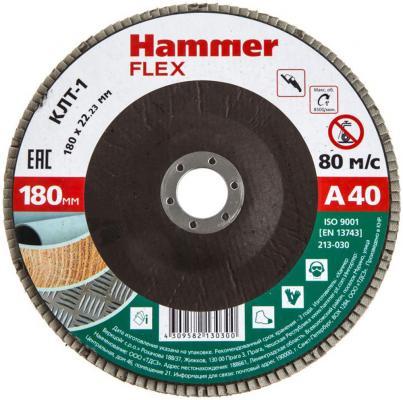 Круг лепестковый торцевой 180 Х 22 Р 40 тип 1 КЛТ Hammer Flex SE 213-030