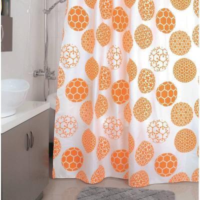 Штора для ванной комнаты MILARDO 850P180M11 180х200см полиэстер Orange Dots футболка guess jeans guess jeans gu644ewdkoj7