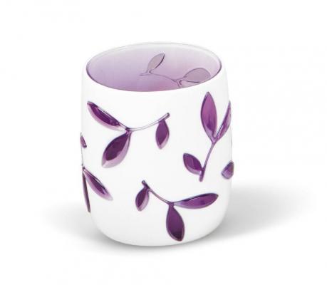 Стакан TATKRAFT 12080 immanuel olive violet для ванной комнаты многослойный ударопрочный акрил