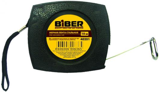 Лента мерная BIBER 40201 стальная 10м мерная лента стальная 50м biber 40205 тов 049310