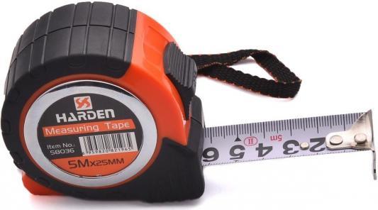 Рулетка HARDEN 580037 измерительная с ударопрочным обрезиненным корпусом 7.5м. х 25мм. рулетка harden 580036
