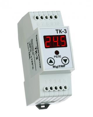 все цены на Терморегулятор DIGITOP ТК-3 креплением на DIN-рейку онлайн