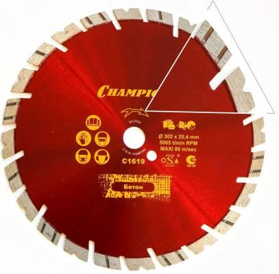 CHAMPION Диск алмазный универсальный 300/25,4 Fast Gripper Чемпион (бетон, кирпич, тротуарная плитк, шт диск алмазный champion 350х25 4мм heavykut c1602