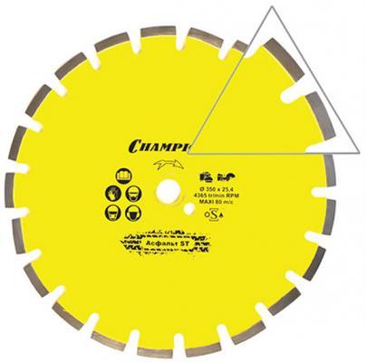 CHAMPION Диск алмазный асфальт 350/25,4 Asphafight, шт диск алмазный champion 350х25 4мм heavykut c1602