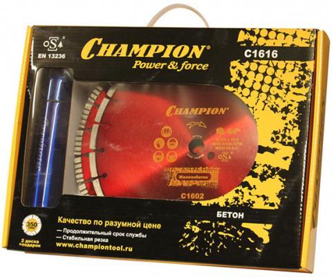 CHAMPION Набор алмазных дисков бетон 350/25,4 (Бетон PRO+Железобетон +) C1616, шт набор дисков алмазных skil д мультипилы 89х10 3мм 3шт сплошной