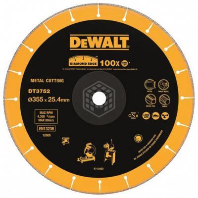 Фото - DeWalt DT 3752 Диск алмазный сегментный,ф355х25.4х3.5мм,д\\сух реза,д\\мет(1штDT3752=100штDT3450), шт фэйзер д алмазный башмачок