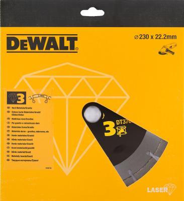 DeWalt DT 3766 Диск алмазный сегментный,ф230х22.2х2.8мм(высота сегм10мм),д\\сухого реза гранита,желез, шт