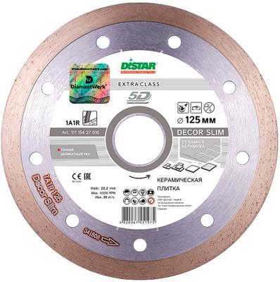 DISTAR Круг алмазный 1A1R 125*1,2*8*22,225 Decor Slim, шт диск алмазный сплошной по керамике decor slim 125х22 2 мм для ушм distar 11115427010