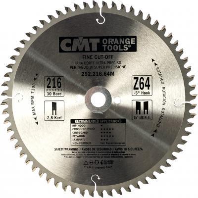 Диск пильный по дереву (216х30х2,8/1,8 мм; Z64) CMT 292.216.64M, шт