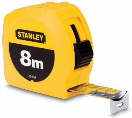"Stanley рулетка измерительная ""stanley"" 8м х 25мм б/уп. (1-30-457), шт рулетка кобальт экстра 646 843 8м x 25мм"