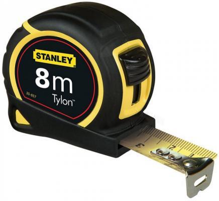Stanley рулетка измерительная tylon 8м х 25мм (0-30-657), шт рулетка stanley 0 30 497 5m