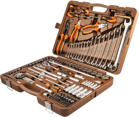 """OMT143SL Набор инструмента универсальный 1/4"""", 1/2""""DR, 143 предмет, шт набор инструмента apelas cs 2053pmq 1 4 dr"""