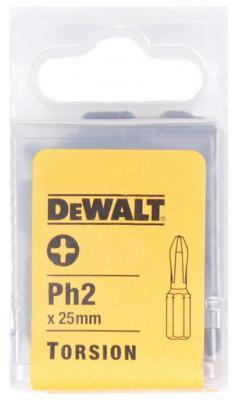 DeWalt DT 7232 Насадка отв Бит Рh2, хв-6-ти гран 1\\4, 25мм,5шт, шт отвертка насадка 1 4 6 гранник 6мм 25мм