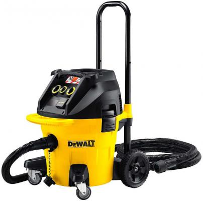 Картинка для Промышленный пылесос DeWalt DWV902L-QS сухая влажная уборка жёлтый чёрный