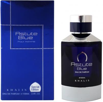 Парфюмерная вода мужская Khalis Astute Blue Pour Homme 100 мл KH215630