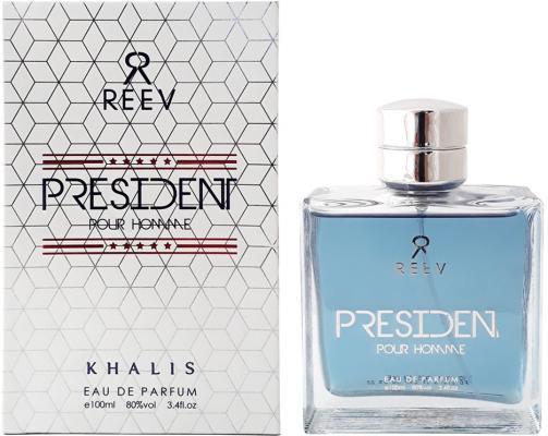Парфюмерная вода мужская Khalis President Pour Homme 100 мл KH215781 khalis reev black shadow pour homme парфюмерная вода мужская 100 мл